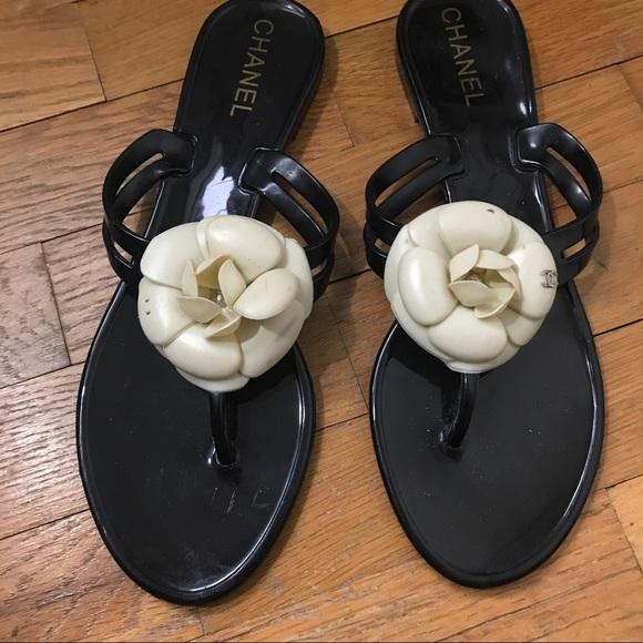 d9f1050ffbb6 CHANEL Shoes - Chanel Camellia Flower Flip Flops